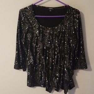 Elements sequined top.